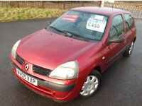 2005 RENAULT CLIO 1.2 RUSH - VERY CHEAP CAR WITH MOT TIL JULY, DRIVES WELL, COMES WITH FULL LOGBOOK
