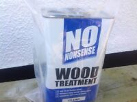 3 x 5 litre cans of Screwfix No Nonsense clear wood treatment for any outdoor furniture and fences