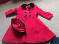 red coat and hat
