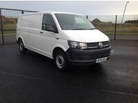 2016 VW TRANSPORTER 2.0 TDI BLUEMOTION TECH LONG WHEEL BASE WITH 13000 MILES ONLY. LOTS OF EXTRAS.