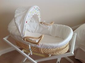 Moses Basket & Stand as new