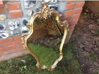 Beautiful decorative gold mirror