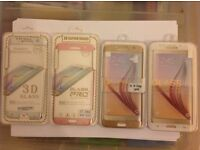Samsung s7 edge tempered glass gold white silver or rose gold