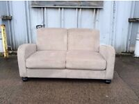 Mink Vivo Chenille 2 Seater Sofa -ex display - £149 Inc Free Local Delivery