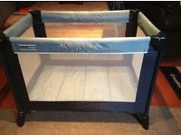 "Travel cot, mamas and papas. Includes mattress base. In very good condition""."