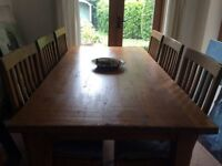 Wesley Barrell Dining Table and Chairs.