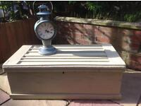 Vintage wood workman's chest