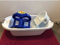 Baby bath, top & tail and bath seat