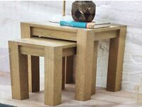 American Oak Nest Of Tables, New & Boxed