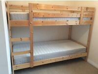 NEW Ikea Mydal Bunk Beds with 2 NEW Hafslo Sprung Mattresses