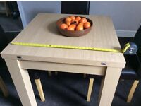 NEXT Madsen Extending Dining Table seats 4/6 light oak effect Good Used condition