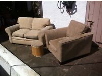 Two Seater Sofa & M&S chair with stool