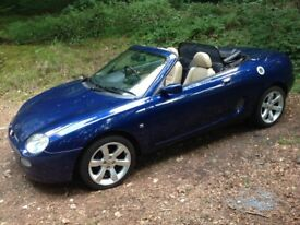 MGF 1.8i VVC in Tahiti Blue with full cream leather interior