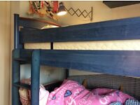 Children's Bunk Beds, excellent condition colour blue and supplied by Hayes of Bath