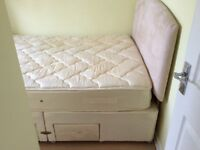 Silent night divan KING size bed. Includes headboard and mattress