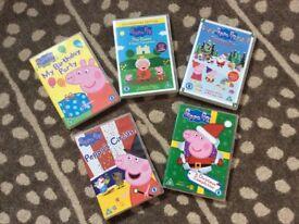 Peppa Pig DVDs X 5