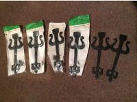 Black antique style gothic/Tudor false hinge fronts