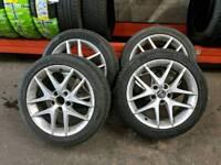 "Saab vauxhall 17"" alloy wheels"