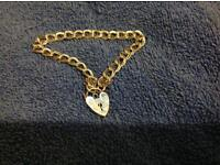 Vintage heart lock bracelet