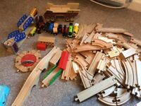 Wooden track over 100 pieces Thomas and friends
