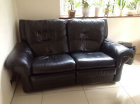 2-3 seater all leather sofa
