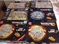 Wasgij jigsaw puzzles. 6 in total. 1,000 pieces each.