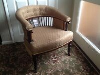 PAIR OF OFFICE / LIBRARY CHAIRS