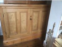 Antique pine large cupboard