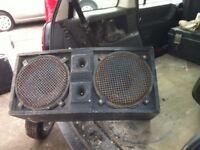 """speaker cab, spares or repair 2 x 12"""" needs tidying up and repair £5"""