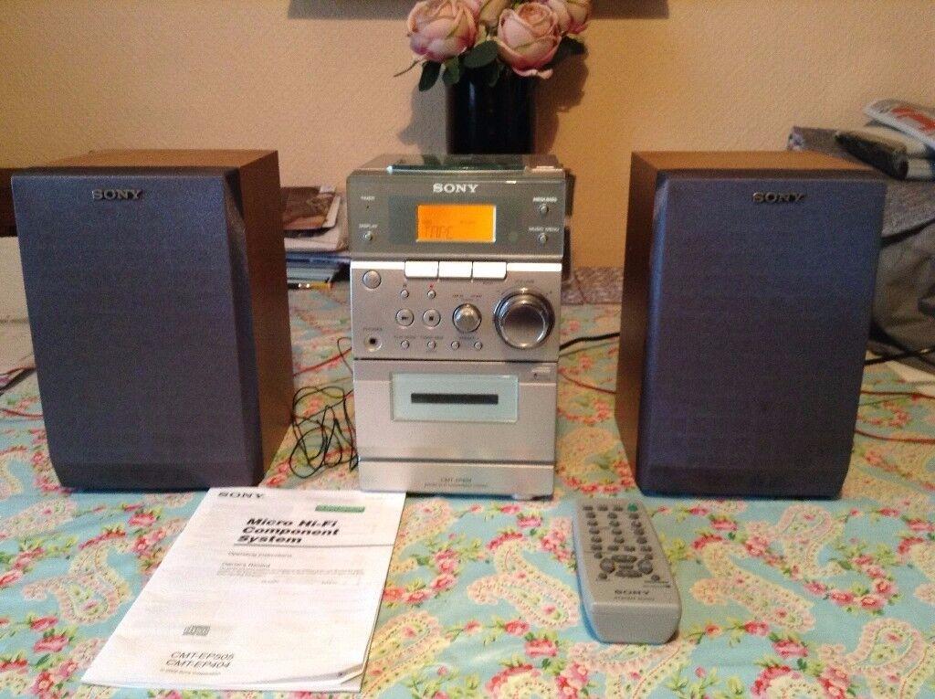 SONY MICRO HI-FI SYSTEM. CMT-EP404.