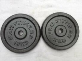 8 x 10kg Pro Fitness v1 Standard Cast Iron Weights