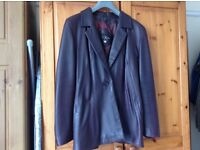 Ladies' Leather Jacket, Genuine Leather, size 10, dark aubergine