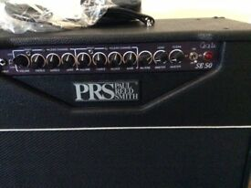 PRS SE50 (USA) VALVE GUITAR AMPLIFIER WITH PRS COVER AND FOOT SWITCH