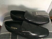 Mens shoes size 6 leather uppers black
