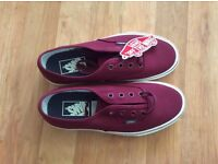 Brand New Authentic Sport Vintage Oxblood Red Vans