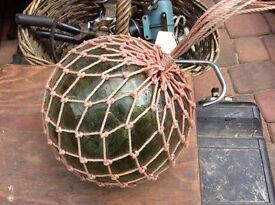 Antique vintage green glass float buoy