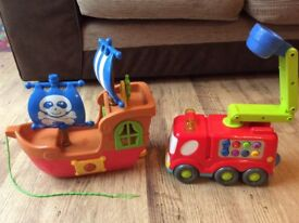 Pre - school toy Firer Engine and Pirate Chip both excellent condition.