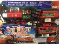 Christmas train set battery operated