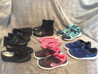 8 PAIRS OF GIRLS SHOES SIZE UK9/UK10