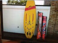 Phoenix f2 320 windsurfing board and bag also tiga swift board all. So masts and sails
