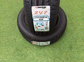 Avon ZV7 215/55/16 Bargain £40.00