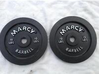 2 x 10lb (4.5kg) Marcy Standard Cast Iron Weights