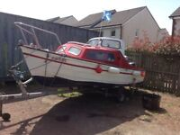 17ft boat with 2berth cuddy