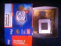 INTEL PENTIUM 4 CPU COMPUTER PROCESSOR + HEATSINK + FAN BRAND NEW BOXED