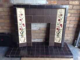 RETRO TILED INSERT AND HEARTH