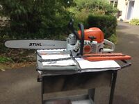 STIHL MS391 chainsaw, 20inch bar, professional quality. Incl spare chain, tools and handbook. 2012