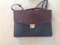 Leather Briefcase - brown - never used