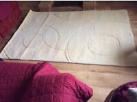 Brand New Cream Rug Never Been Used To Big For Room