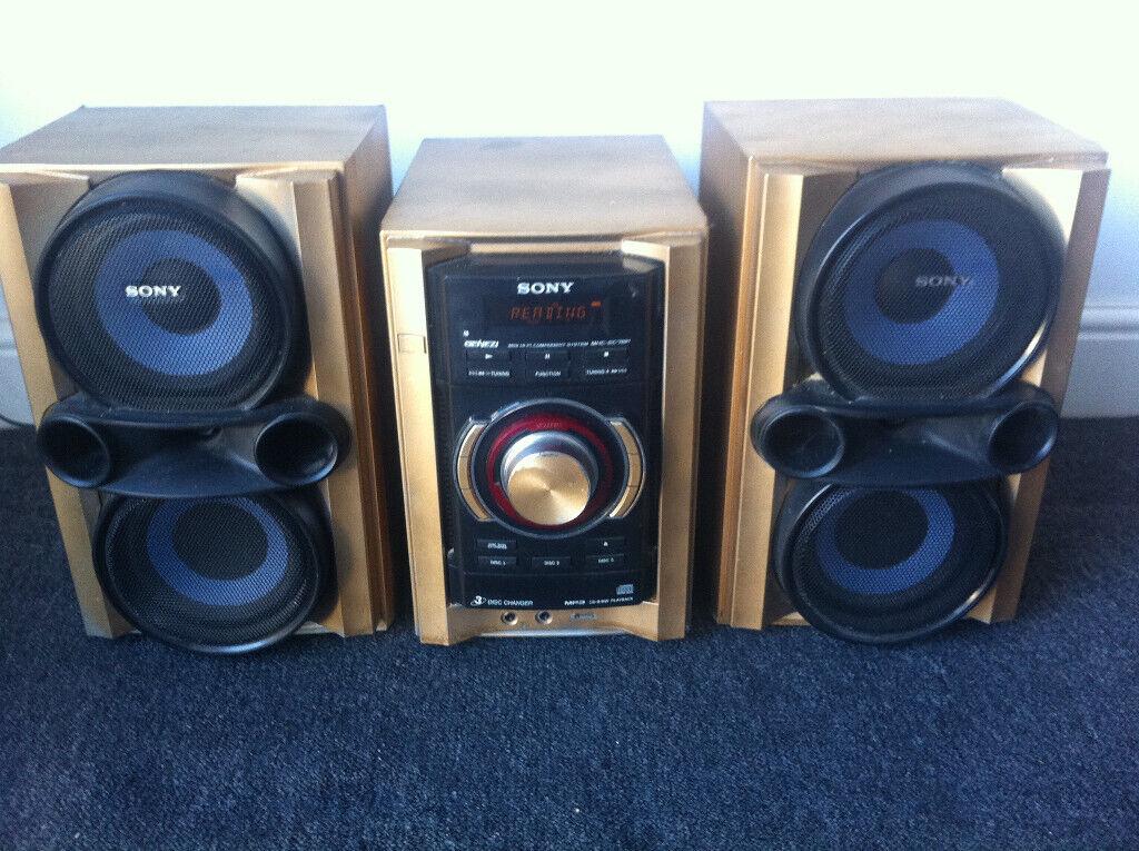 Sony ec p genezi hi fi system cd radio mp phone ipod