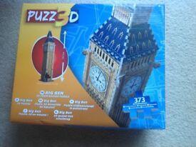 3D jigsaw puzzle of Big Ben,